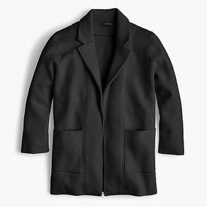 J. Crew 100% Merino Wool Open-Front Sweater Blazer